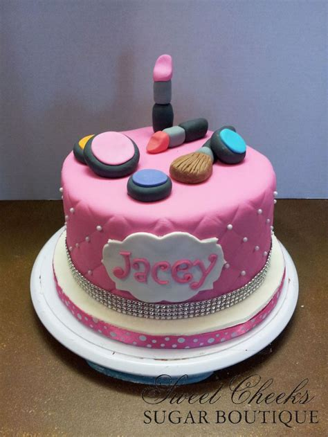 birthday themed makeup a makeup themed cake for jacey happy birthday sweet