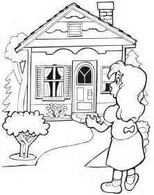 goldilocks bears coloring pages coloring
