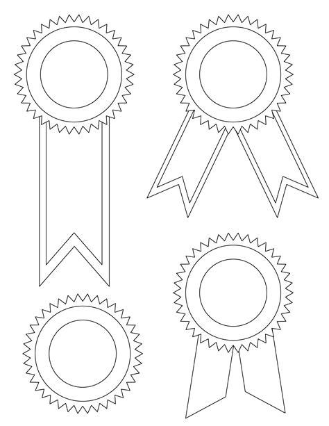 Award Ribbon Template printable award ribbons