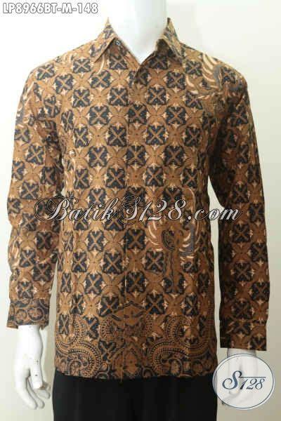 Baju Batik Resmi Elegan jual model baju batik pria lengan panjang 2017 busana batik elegan kombinasi tulis motif klasik
