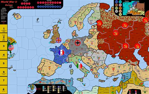 wwii  europe vinyl map electronic rules