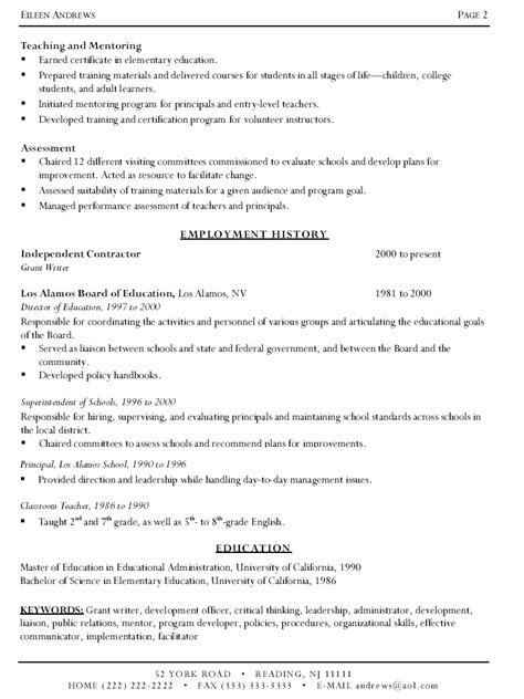 writers resume template sle resume
