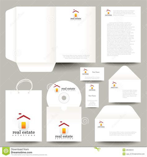 Vector stationery design stock vector. Image of envelope
