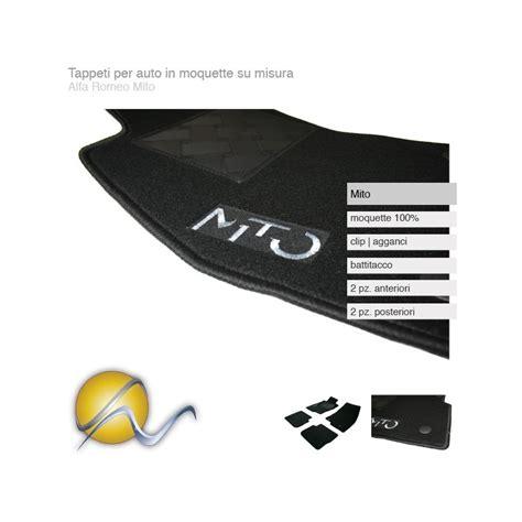 tappeti alfa mito tappeti per auto su misura in moquette con clip per alfa