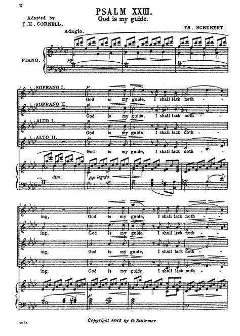 Uconn Part Time Mba Summer Schedule by Psalm 23 D 706 Schubert Franz Imslp Petrucci