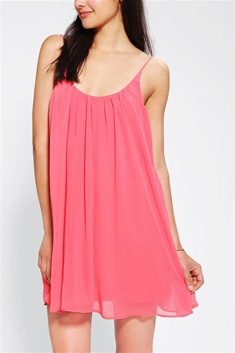 chiffon swing dress sparkle fade chiffon swing slip dress urban outfitters