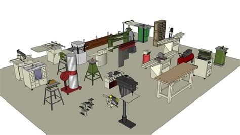 woodwork wood shop equipment  plans