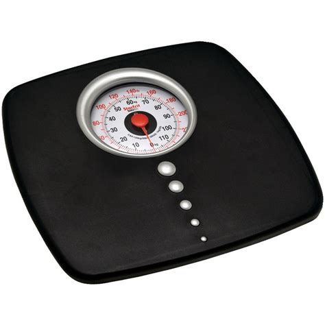 digital or mechanical bathroom scales starfrit mechanical digital scale in black 093857 004 0000