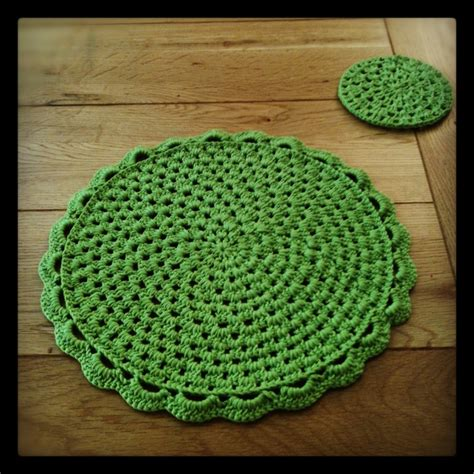 Crochet Table Mats - 17 best images about placemats on free pattern