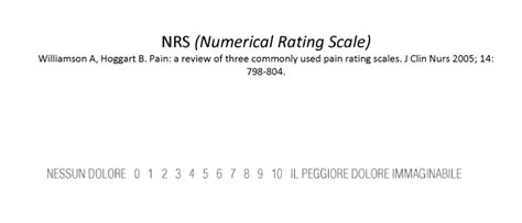 vas dolore pois orthopaedic instant survey scala nrs