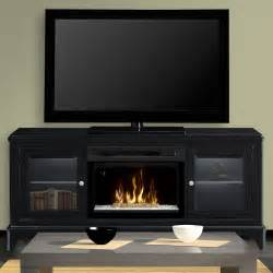 winterstein black electric fireplace entertainment center