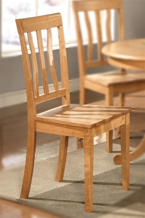 Oak Kitchen Chairs by Set Of 6 Antique Dinette Kitchen Dining Chairs With Wood Seat In Light Oak Ebay