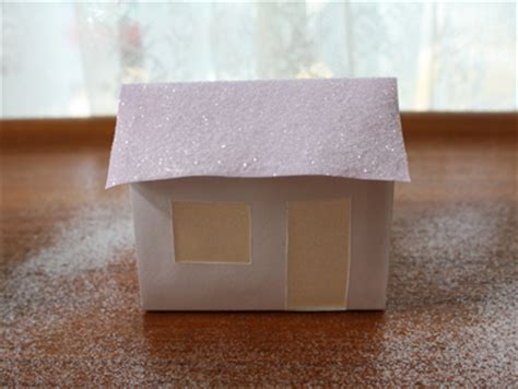 How To Make A Small Paper House - glitter paper houses alpha