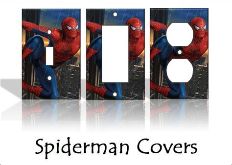 spiderman home decor spiderman light switch covers marvel comics home decor
