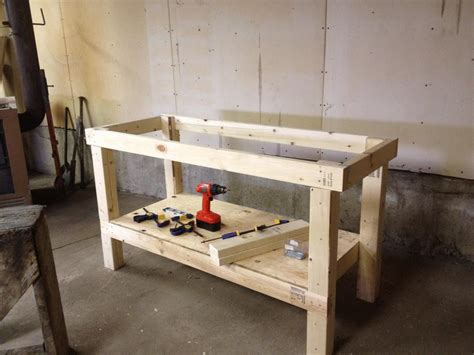easy work bench ana white workbench diy projects