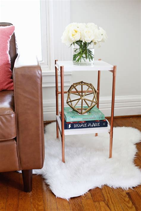 copper pipe furniture copper pipe side table diy a beautiful mess