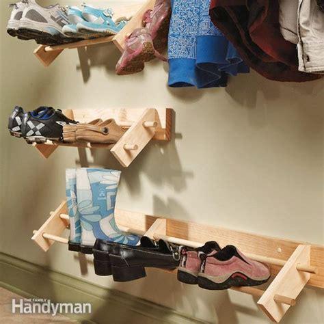 make shoe storage build a shoe organizer the family handyman