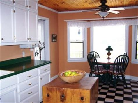 advice on painting kitchen with green countertops white