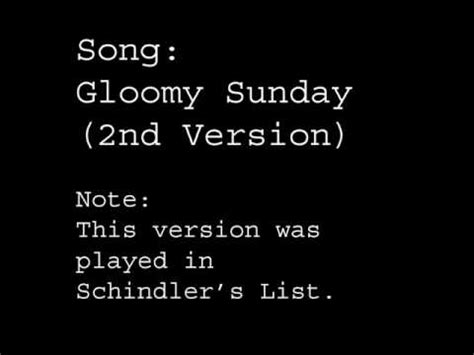 gloomy sunday original piano version rezs seress gloomy sunday played in schindler s list doovi