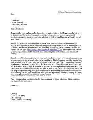 Manhattan College Letterhead fillable k state k state department letterhead date applicant address k