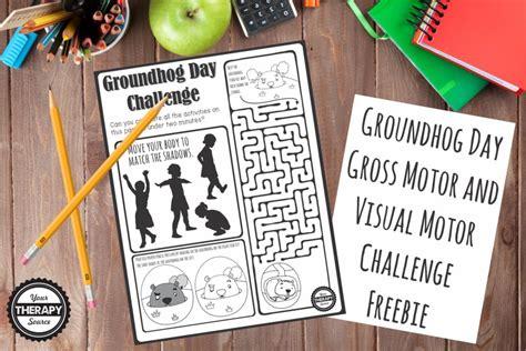 groundhog day buster groundhog day visual gross motor challenge your