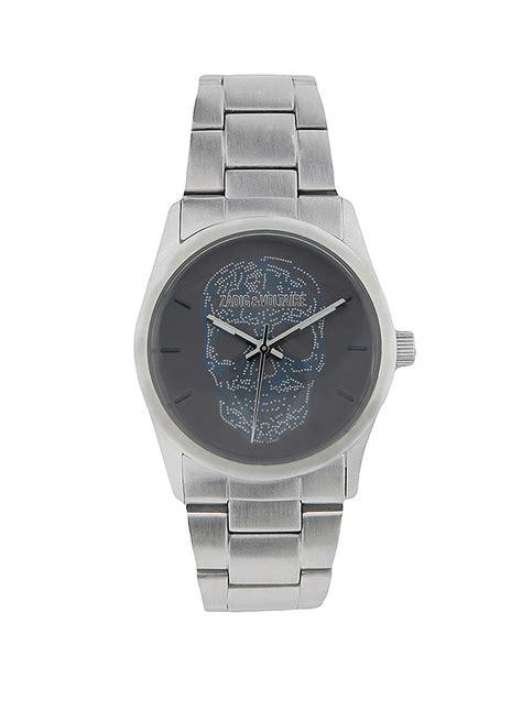 montre pour femme acier tdm 37 gris zadig voltaire
