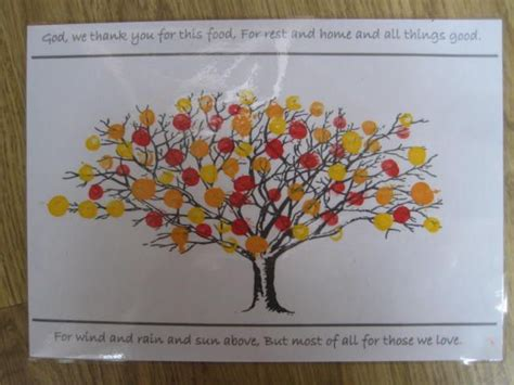 friendship tree template church craft thanks laminated fingerprint tree