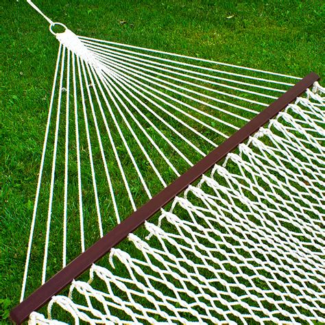hammock 59 quot cotton wide solid wood spreader outdoor