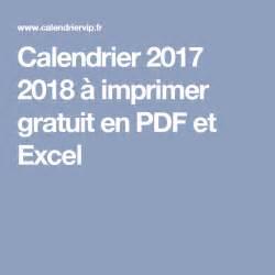 Calendrier Gratuit Fr Calendrier 2017 2018 224 Imprimer Gratuit En Pdf Et Excel