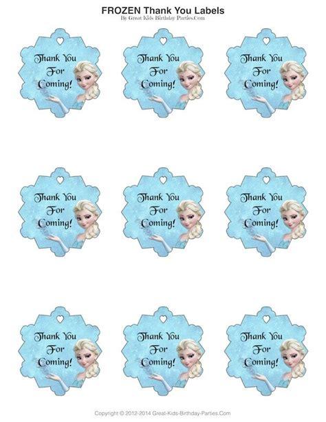 printable frozen thank you stickers frozen party frozen party birthdays and frozen birthday