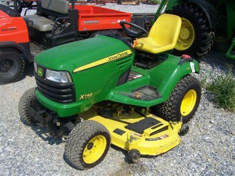 4x4 Garden Tractor by 136 Deere X748 4x4 Lawn And Garden Tractor Lot 136