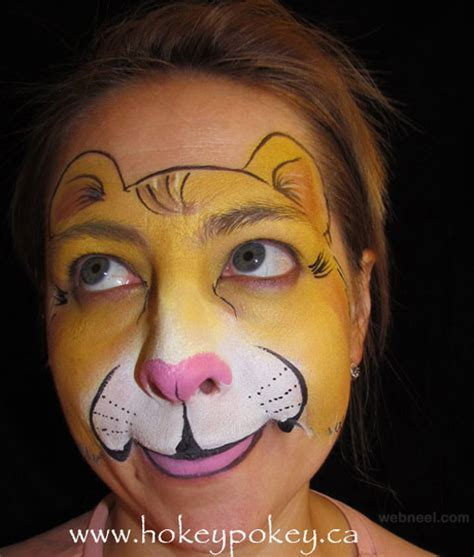 Tiger Wall Mural lion face paint 29
