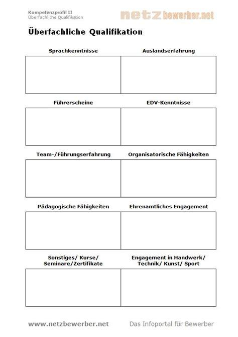 Lebenslauf Qualifikationsprofil Vorlagen F 252 R Anschreiben Lebenslauf Und Co