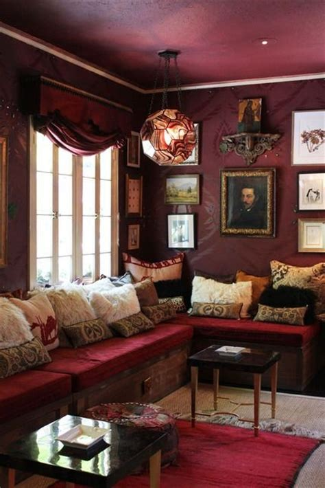 The Burgundy Room by 21 Interiors In Burgundy Interior For