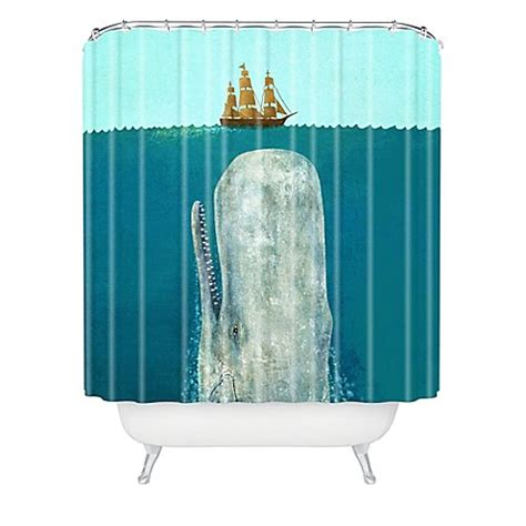whale themed bathroom decor deny designs terry fan the whale shower curtain bed bath