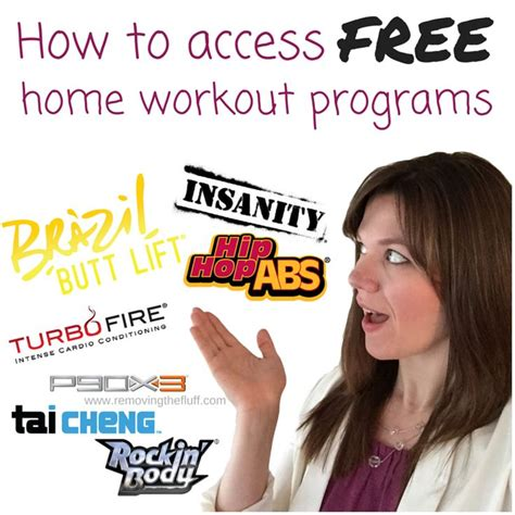 how to access free home workout program and nutritional