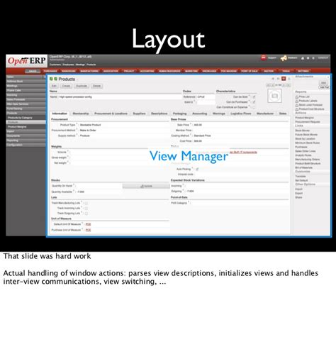 backbone layout manager exle openerp 6 1 web framework tutorial