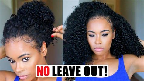 leave your hair on front crochet weave no leave out watch me slay style these crochet braids