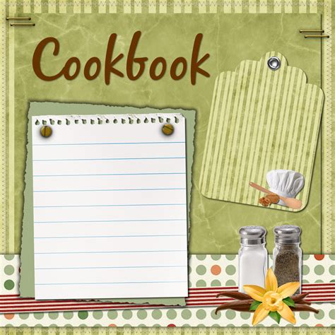 cook book template living at the alverno