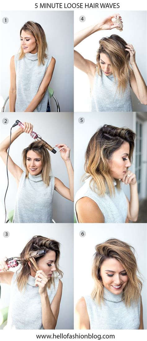 quick and easy hairstyles without bobby pins 25 best ideas about wavy bob tutorial on pinterest