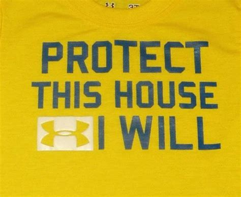 protect this house under armour t shirt sports top tee cute sayings boys ua infant toddler athletic ebay