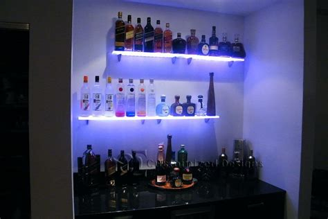 lighted floating shelves led lighted floating shelves bar shelves bottle