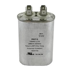 packard 370 volts motor run capacitor oval 7 5mfd