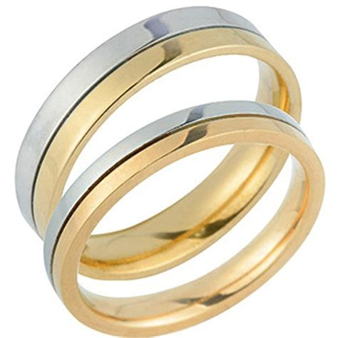Wedding Rings Yellow And White Gold by Stylish 14k White And Yellow Gold His And Hers Matching