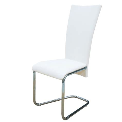 6 White Dining Chairs 6 Pcs Artificial Leather Iron White Dining Chair Vidaxl Co Uk