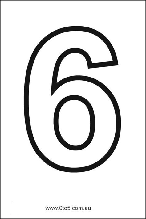 free number templates to print printable number 6 template week 5 numbers printable