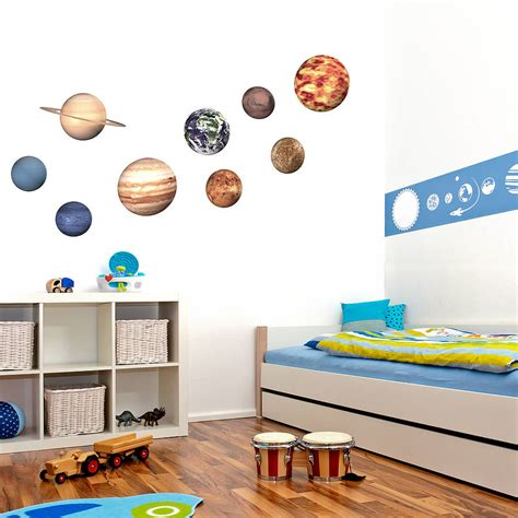 planet stickers for walls space planet wall stickers by oakdene designs notonthehighstreet