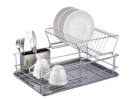 Stainless Dish Drainer Rack by 10 Easy Pieces Countertop Dish Drainers Remodelista