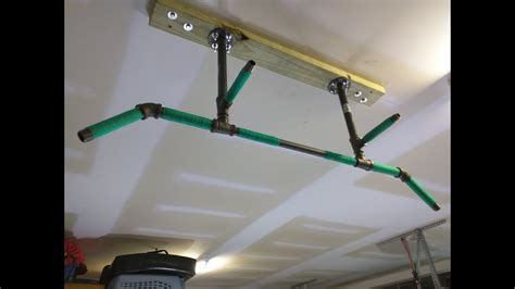 Garage Pull Up Bar Ceiling by Diy 4 Position Ceiling Mounted Pull Up Bar For