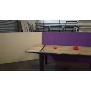 meuble industriel table de salle 224 manger avec rallonge
